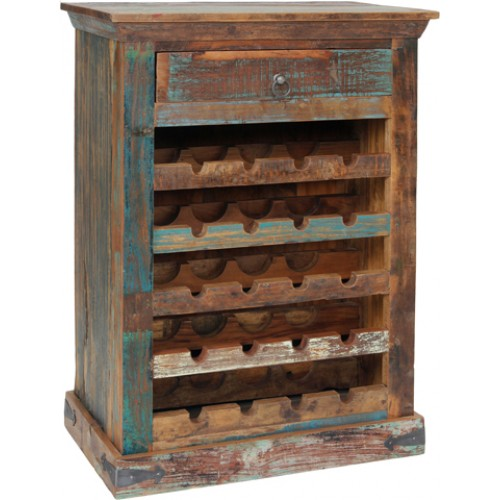 Lynn Low Wine Cabinet- Natural