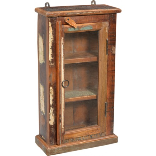 Loraine Glass Door Rustic Medicine Cabinet