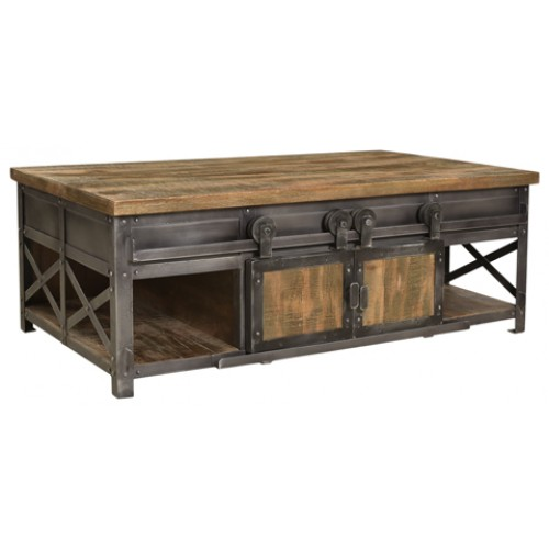 Cooper 4 Sliding Door Farmhouse Coffee Table