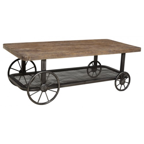 Cooper Wheeled Farmhouse Coffee Table