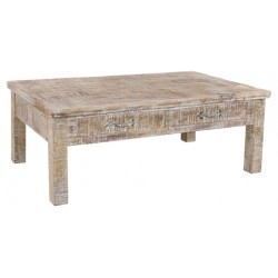 Jeane Rustic Coffee Table With 4 Drawers