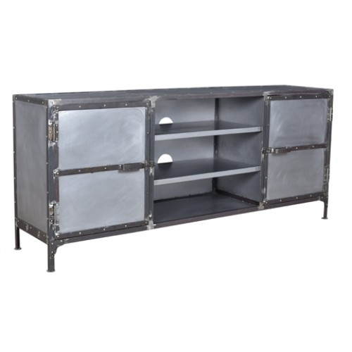 Loraine Distressed Iron Plasma/ TV Stand
