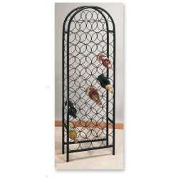 47 Bottle Matte Black Classic Arch Wine Rack, Ready to Assemble