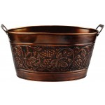 5½ Gallon Antique Embossed Heritage Party Tub