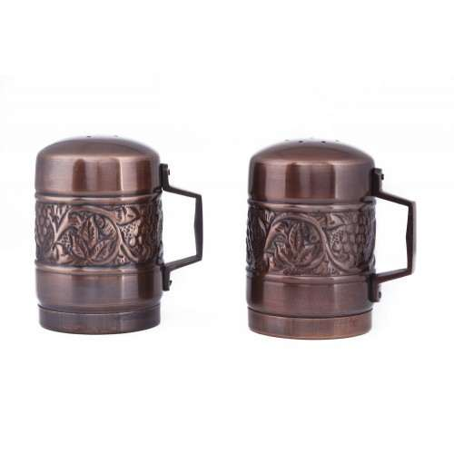 Antique Embossed Heritage Stovetop Salt & Pepper Set