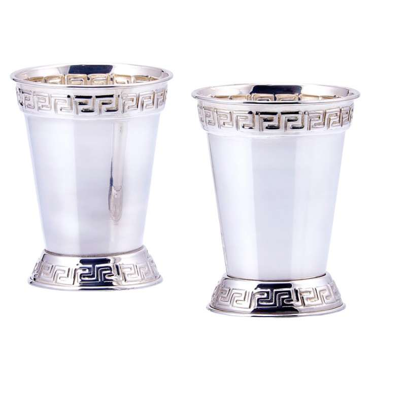 Set Of 2 Silver Plated Mint Julep Cups 12 Oz Countryvintagehome