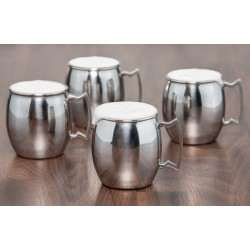 Set of 4 Stainless Steel Moscow Mule Mugs, 16 Oz.