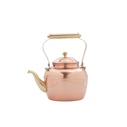 Solid Copper Tea Kettle with Brass Handle, 2½ Qt