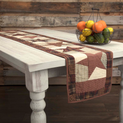 Abilene Star 13x36 Quilted Table Runner