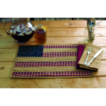 Patriotic Patch Placemat Quilted Set of 6 12x18