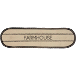 Sawyer Mill Farmhouse Jute Oval Runner 13x36