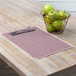 Tara Burgundy Ribbed Placemat Set Of 6 12x18