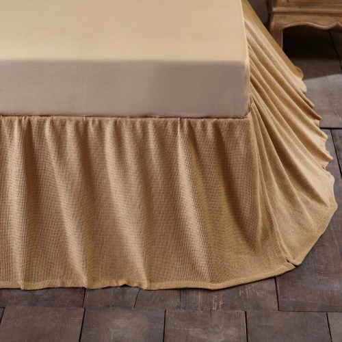 Burlap Natural Ruffled Queen Bed Skirt 60x80x16