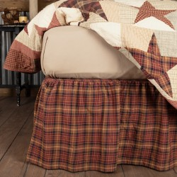 Abilene Star Farmhouse Bed Skirt - Queen