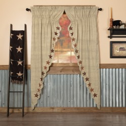 Abilene Star Prairie Long Curtain Panel Set of 2 84x36x18