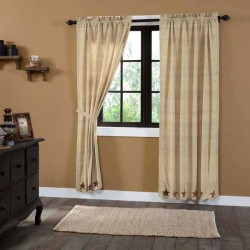 Abilene Star Scalloped Lined Panel Curtains 84""