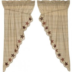 Abilene Star Scalloped Lined Prairie Curtains