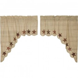 Abilene Star Scalloped Lined Swag Curtains