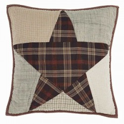 Abilene Star Quilted Farmhouse Pillow 16x16