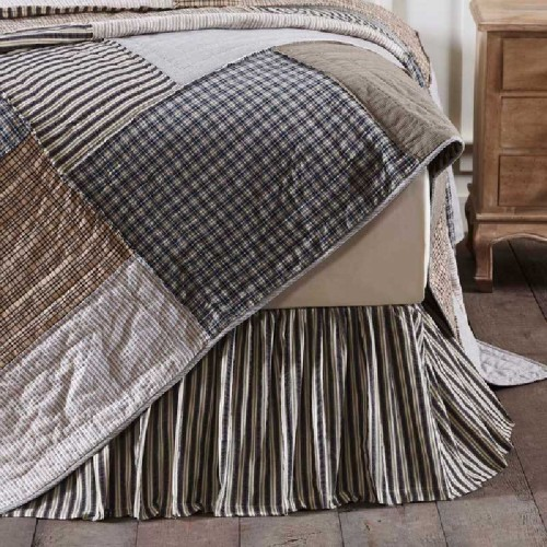 Ashmont Striped Bed Skirt - King