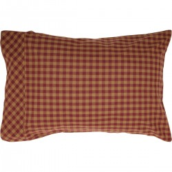 Burgundy Check Standard Pillow Case Set of 2 21x30