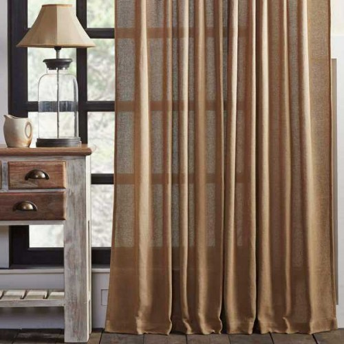 Burlap Natural Panel Set of 2 84x40