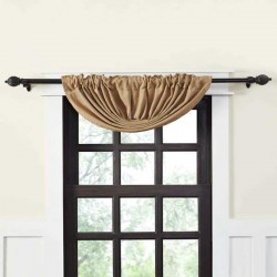 Burlap Natural Balloon Valance 15x60