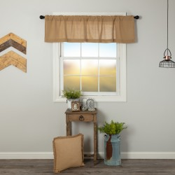 Burlap Natural Valance Curtain 16x60