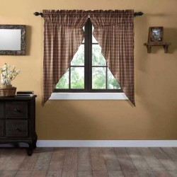 """Crosswoods Lined Prairie Curtains 63"""""""