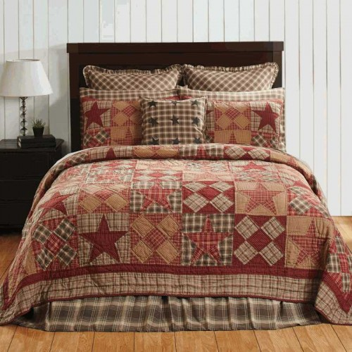 Dawson Star Primitive Quilt - Luxury King