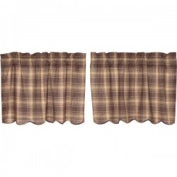 Dawson Star Tier Curtains Set of 2 L24xW36