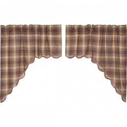 Dawson Star Primitive Swag Curtains Set of 2 36x36x16
