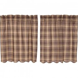 Dawson Star Tier Curtains Set of 2 L36xW36