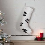 Emmie Black Patch Stocking 12x20