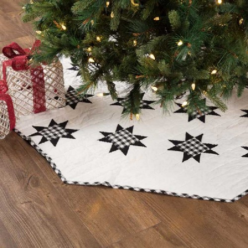 Emmie Black Patchwork Tree Skirt 60