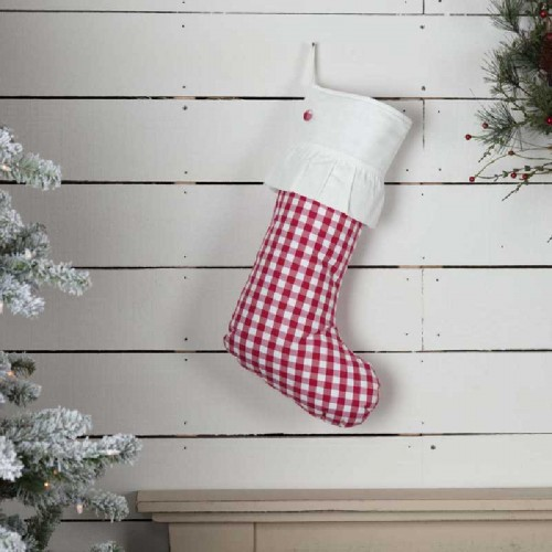 Emmie Red Check Stocking 12x20