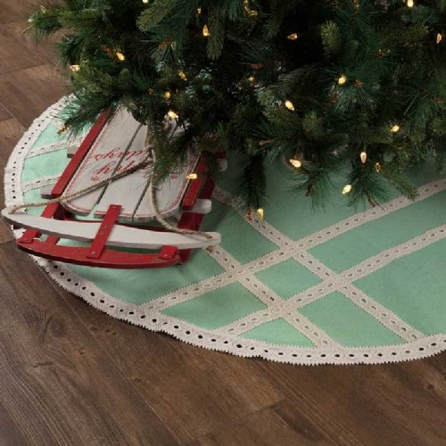Margot Mint Tree Skirt 55