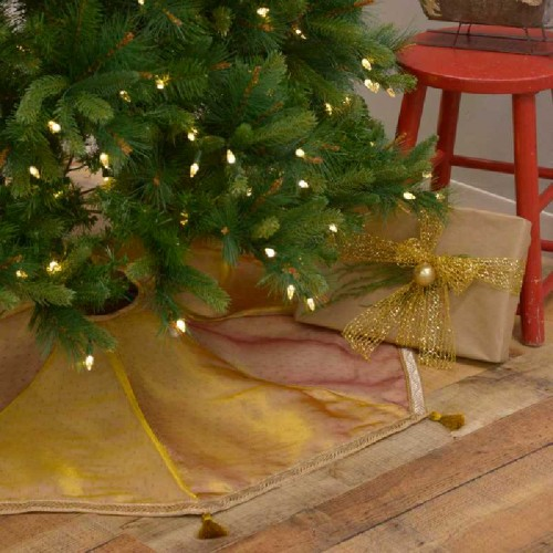 Tinsel Tree Skirt 48""
