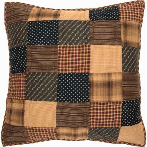 Patriotic Patch Euro Sham 26x26 - Quilted
