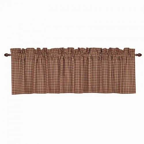 Patriotic Patch Plaid Valance 16x72