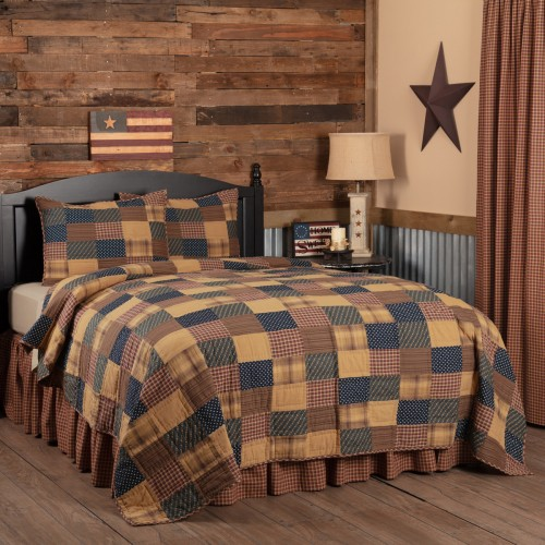 Patriotic Patch California King Quilt  Set
