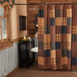Patriotic Patch Shower Curtain 72x72
