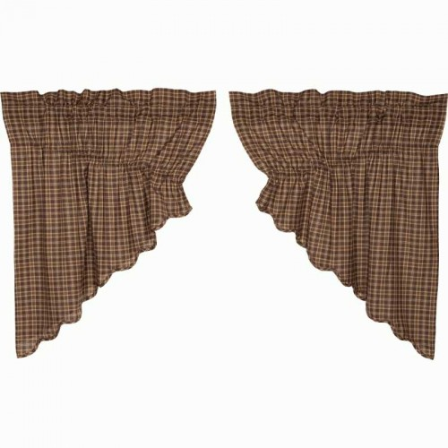 Prescott Prairie Swag Scalloped Set of 2 36x36x18