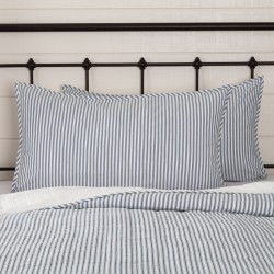 Sawyer Mill Blue Ticking Stripe King Sham