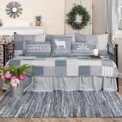 Sawyer Mill Blue 5pc Daybed Quilt Set