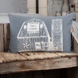 Sawyer Mill Blue Country Barn Pillow 14x22