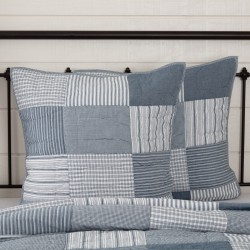 Sawyer Mill Blue Quilted Euro Sham