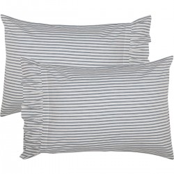 Sawyer Mill Blue Ticking Stripe Standard Pillow Case Set of 2 21x30