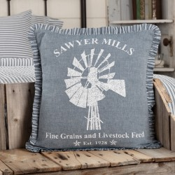 Sawyer Mill Blue Windmill Pillow 18x18