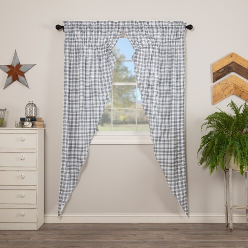 Sawyer Mill Blue Plaid Prairie Long Panel Set of 2 84x36x18